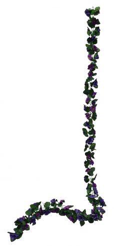 Donker Paarse Bloemslinger 200cm