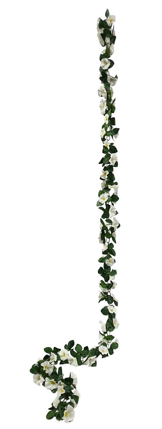 Witte Bloemslinger 200cm