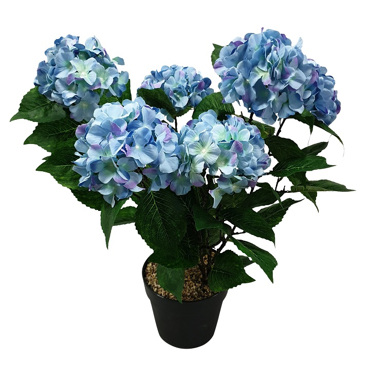 Grote Blauwe Kunst Hortensia 70cm