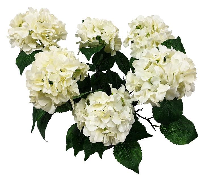 Grote Witte Kunst Hortensia 70cm