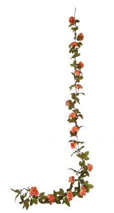 Geel Roze Mix Nep Rozenslinger 220cm