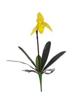 Kelk Kunst Orchidee Geel 40cm