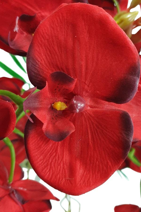 Grote Kunstorchidee Plant Rood 50cm