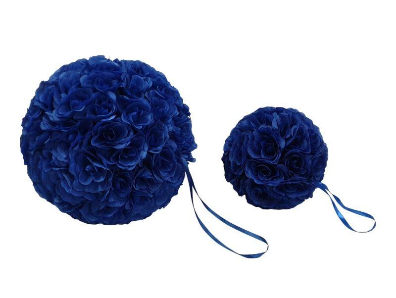 Nep Bloemen Bol Blauw 40cm