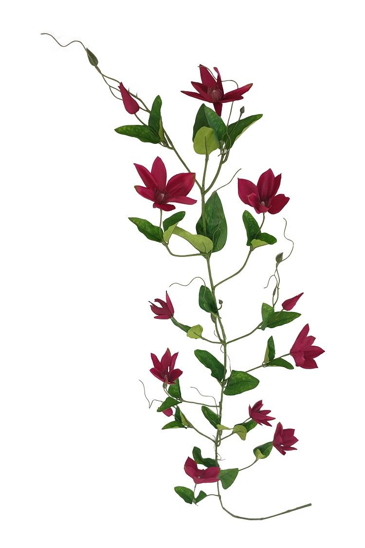 Kunst Clematis Slinger Fuchsia Rood