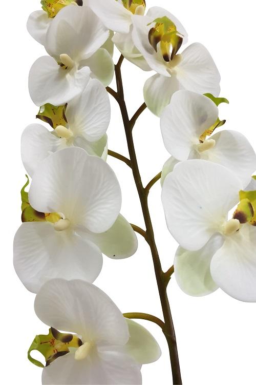 Witte Hang Kunst Orchidee 125cm