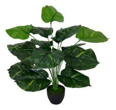 Kunst Alocasia Plant Met Zwarte Pot 50cm