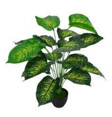 Kunst Maroba Plant Met Zwarte Pot 50cm