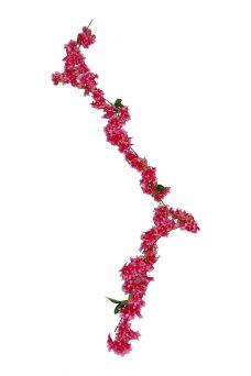Bloemslinger Met Kleine Bloemetjes Mix Rose 175cm