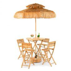 Parasol Set Bamboe met Krukken D220